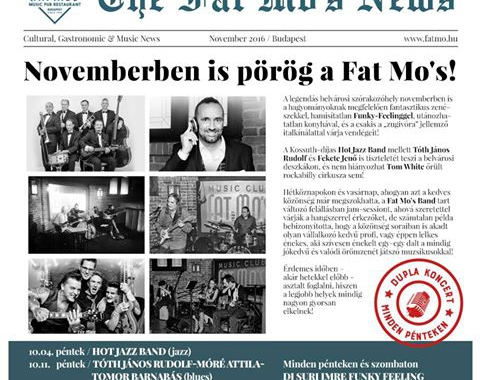 Novemberben is pörög a Fat Mo's!
