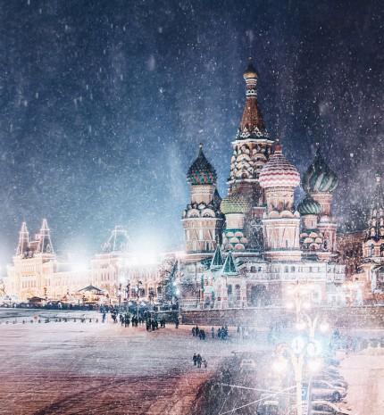11 tündérmesébe illő kép a téli Moszkváról