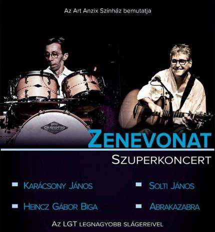 Zenevonat Szuper-koncert - az LGT együttes két eredeti tagjának közreműködésével!