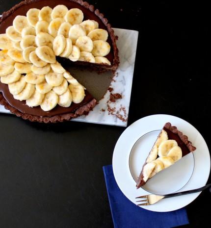 Csokis-banános pite recept