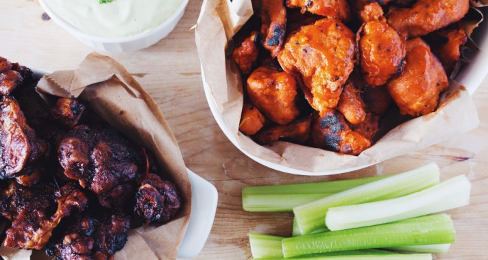 Narancsos-mustáros csirkeszárny bluecheese szósszal