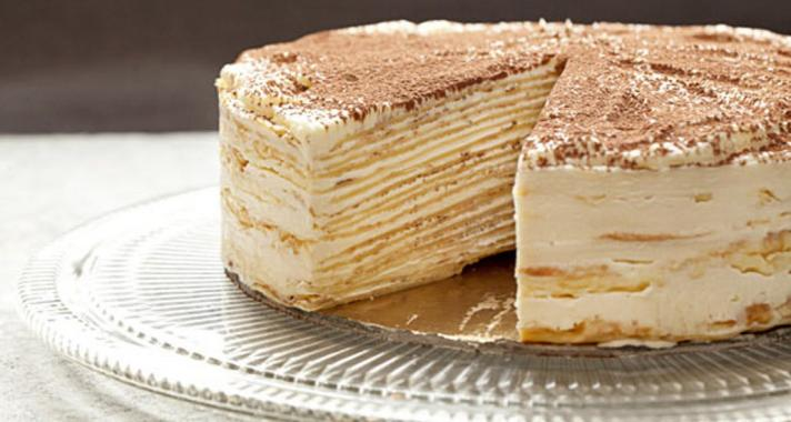Tiramisu crepe cake recept