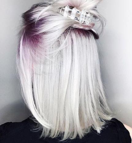Top10: gyönyörű ametiszt színű haj