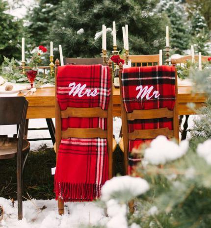 A legszebb dekorációk téli esküvőkre