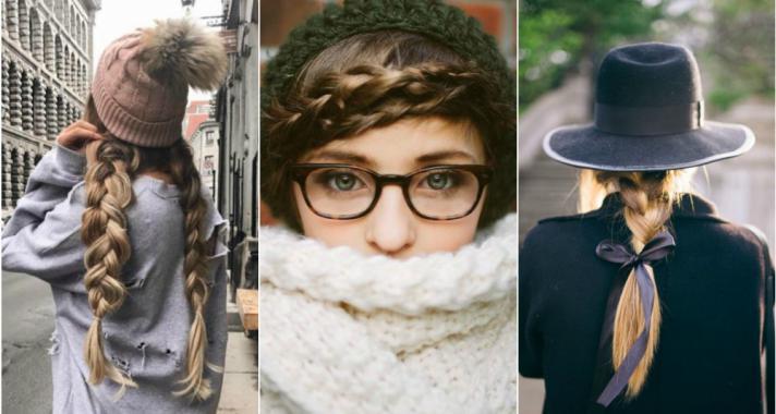 Őszi kedvenc: viselj kalapot vagy sapkát fonott frizurával