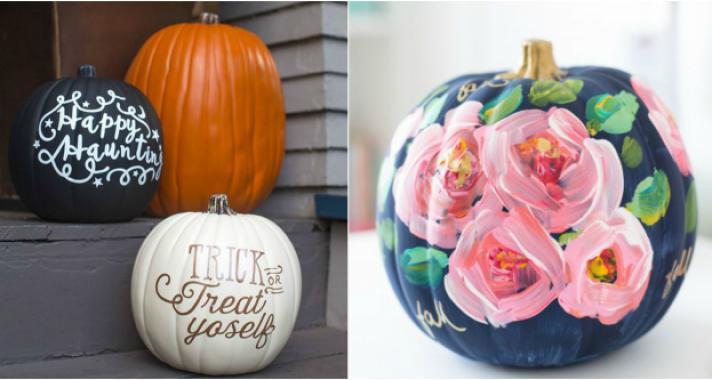 15 fantasztikus dekorációs ötlet festett tökökhöz