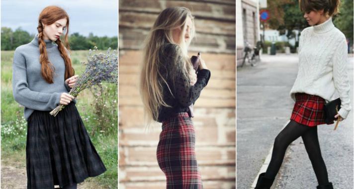 Stílusiskola: kockás szoknyák minden mennyiségben