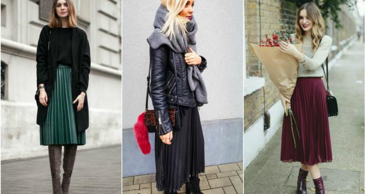 Stílusiskola: így lehetsz csinos télen pliszírozott szoknyában