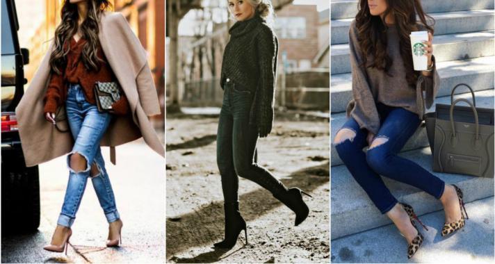 Stílusiskola: télen is csinosan farmerben magassarkú cipővel