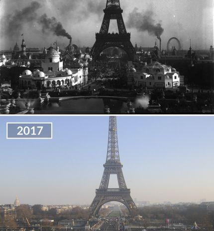 5 előtte és utána fotó arról, hogyan változott meg Párizs az elmúlt száz évben