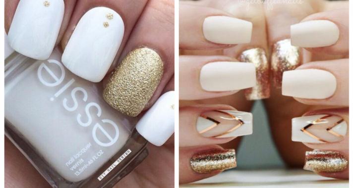 Top10: visszafogott és stílusos arany-fehér manikűr tippek