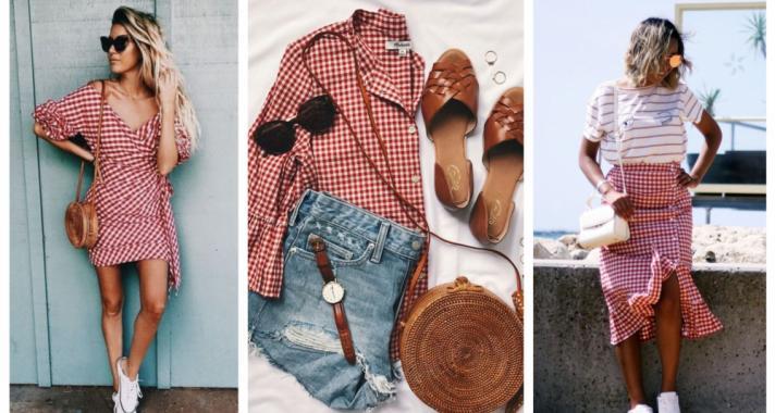 Stílusiskola: így viseld a nyár kedvencét, a piros kockás ruhadarabokat
