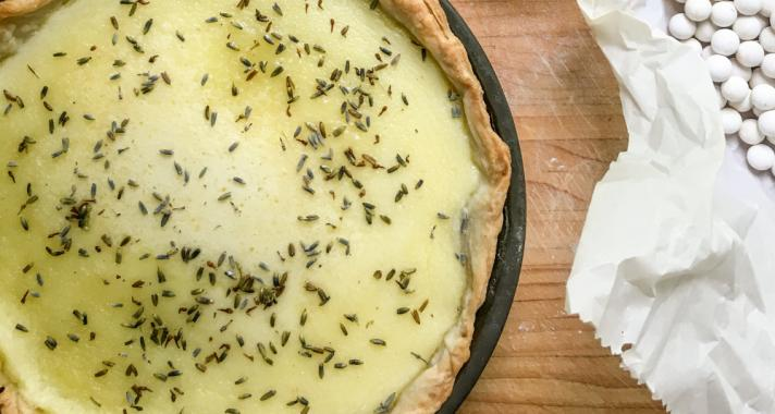 Levendulás-citromos pite recept