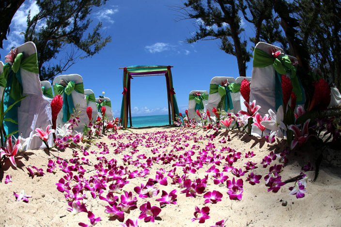Esküvő Hawaiin