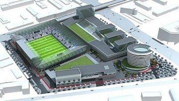 Elhelyezték az új Fradi-stadion első alappillérét
