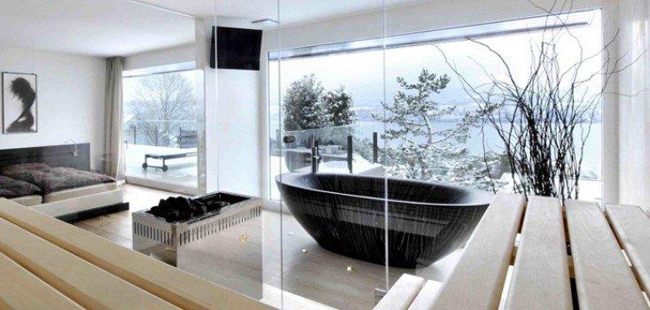Csodaszép fa fürdőkádak
