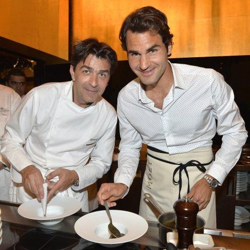 Federer a világ egyik legjobb séfével főzött