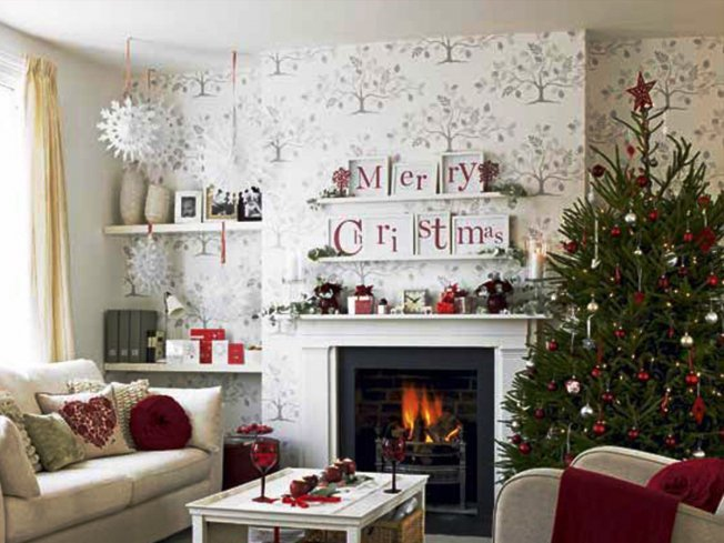 Kar csonyi dekor lom - Design your living room online free ...