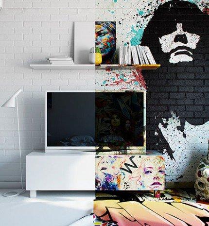 Graffiti, mint belső dizájn