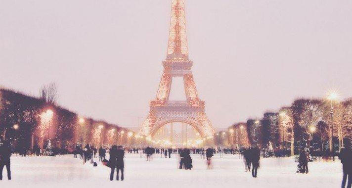 Párizs, télen