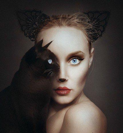 Lenyűgöző állatszemű női portrék!