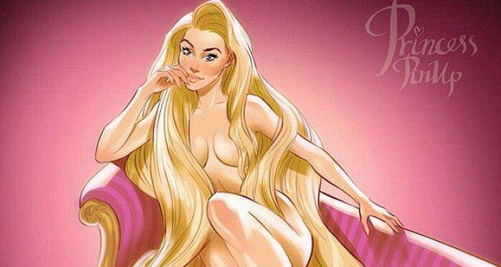 Így festenek a Disney hercegnők pin up girlként