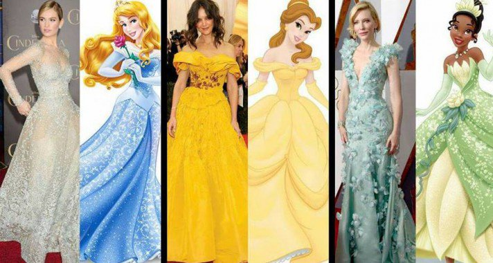 Ilyen az, amikor a sztárok Disney hercegnőnek öltöznek a vörös szőnyegen