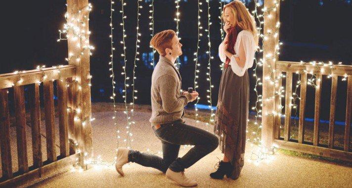 A legromantikusabb lánykérések képekben
