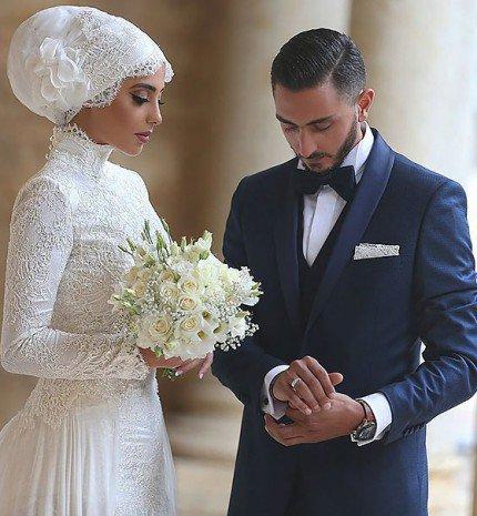 Muszlim nők tradicionális, esküvői viselete