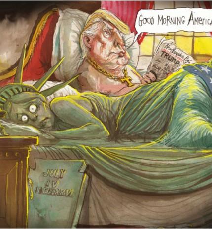 A 13 legfrappánsabb karikatúra, mellyel Donald Trump amerikai elnökké választására reagáltak