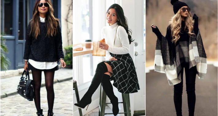 Stílusiskola: fekete és fehér a téli minimalizmus jegyében
