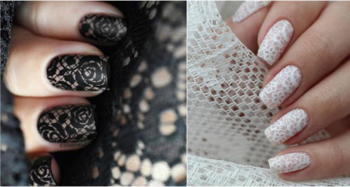 Top10: stílusos elegancia - csipke mintás manikűr ötletek