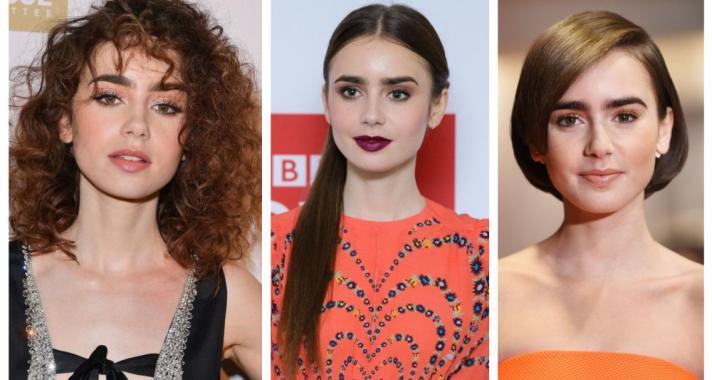 Top10: frizura ötletek Lily Collins-tól