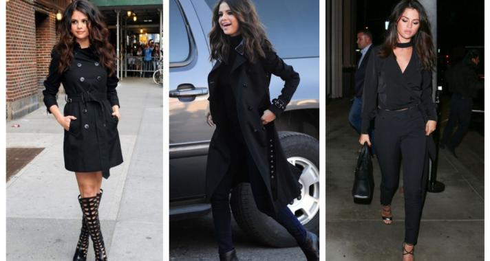 Stílusiskola: 10 tetőtől-talpig fekete outfit ötlet Selena Gomez-től