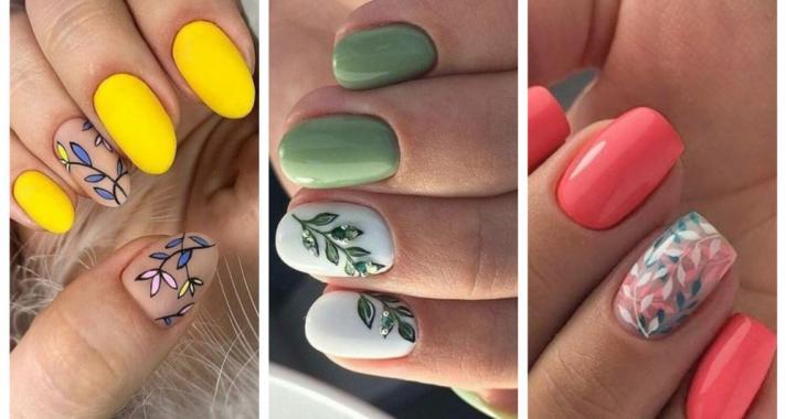 Top10: gyönyörű leveles manikűr ötletek a nyári szezonra