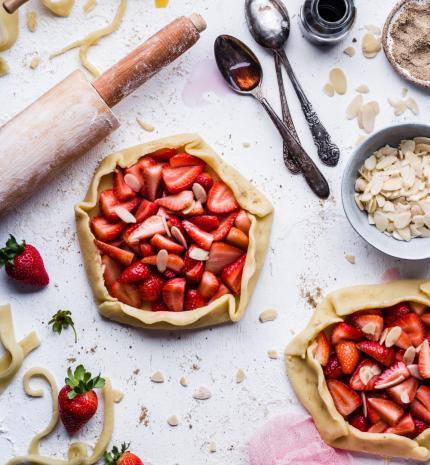 Nyári gyümölcsös galette recept
