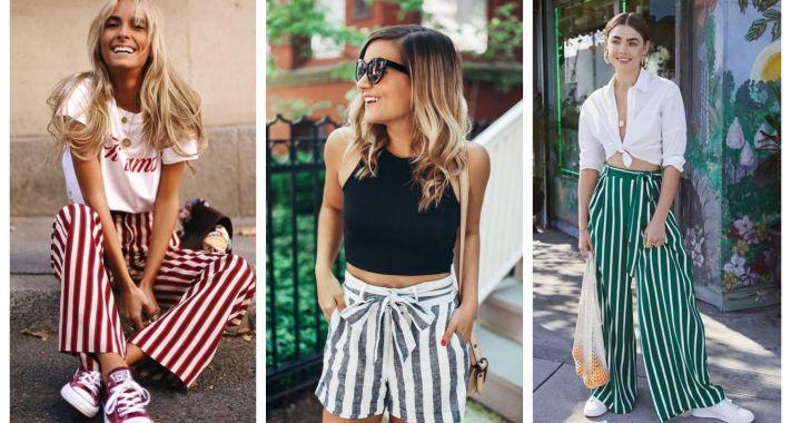 Stílusiskola: így viselj nyáron csíkos nadrágokat