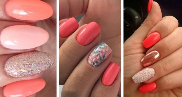 Top10: csodás korall színű manikűr ötletek a nyári szezonra