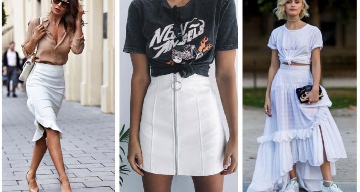 Stílusiskola: outfit ötletek fehér szoknyával