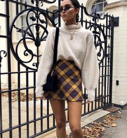 Stílusiskola: így viselj ősszel kockás szoknyákat