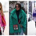 Divat & Stílus - Stílusiskola: így viselj színes műszőrme kabátokat