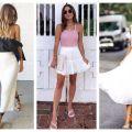 Divat & Stílus - Stílusiskola: a legjobb outfitek fehér szoknyákkal