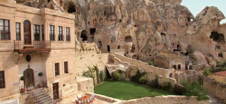 Kappadókia legkülönlegesebb szállodája: Yunak Evleri barlanghotel