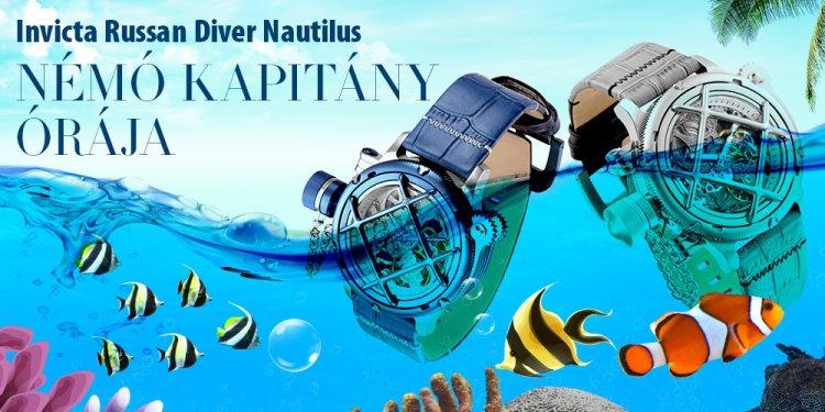 Invicta Russan Diver Nautilus - Némó kapitány órája
