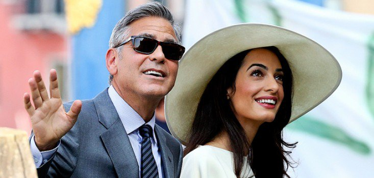 Íme a friss házas Clooney-ék!