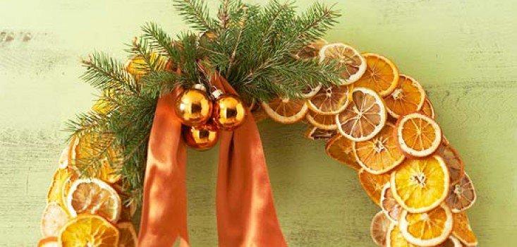 Karácsonyi narancskoszorú
