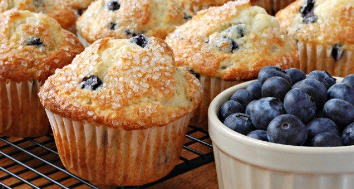 Anyu süt: joghurtos áfonyás muffin
