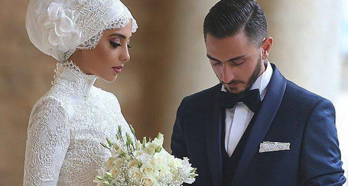 keresek muszlim nő esküvő kislemez stockerau